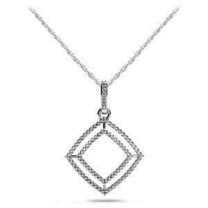 5.50 Ct Round cut diamonds Shadow Box pendant neck